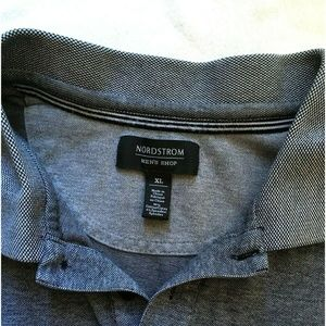 Nordstrom Mens Polo Shirt Gray Size XL